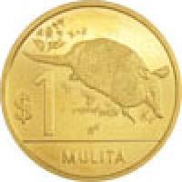 reverse of 1 Peso Uruguayo - Native fauna of Uruguay: Armadillo (2011 - 2012) coin with KM# 135 from Uruguay. Inscription: $1 MULITA