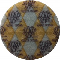 obverse of 1 Ruble (2014) coin from Transnistria. Inscription: ПР Б 2014 ОДИН РУБЛЬ