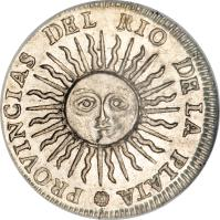 reverse of 1 Real (1813 - 1815) coin with KM# 2 from Argentina.
