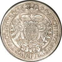 reverse of 1 Speciestaler - Leopold I - Vienna mint (1672 - 1695) coin with KM# 1275 from Austria.