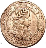 obverse of 15 Kreuzer - Leopold I - Vienna mint (1660 - 1696) coin with KM# 1170 from Austria.