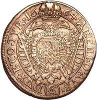 reverse of 15 Kreuzer - Leopold I - Vienna mint (1660 - 1696) coin with KM# 1170 from Austria.