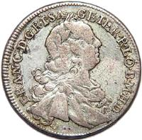 obverse of 15 Kreuzer - Franz I (1747 - 1750) coin with KM# 2025 from Austria.