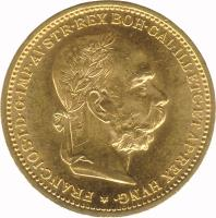 obverse of 20 Corona - Franz Joseph I (1892 - 1905) coin with KM# 2806 from Austria. Inscription: FRANC · IOS · I · D · G · IMP · AVSTR · REX BOH · GAL · ILL · ETC · ET AP · REX HVNG ·