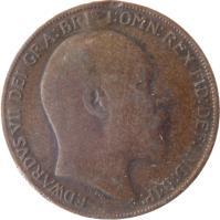 obverse of 1 Penny - Edward VII (1902 - 1910) coin with KM# 794 from United Kingdom. Inscription: EDWARDVS VII DEI GRA: BRITT: OMN: REX FID: DEF: IND: IMP: