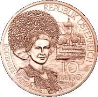 obverse of 10 Euro - Vorarlberg (2013) coin with KM# 3224 from Austria. Inscription: REPUBLIK ÖSTERREICH AUSTRIA BODENSEE-RADHAUBE 10 EURO 2013