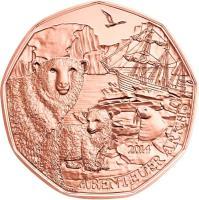 obverse of 5 Euro - Arctic Adventure (2014) coin with KM# 3231 from Austria. Inscription: ABENTEUER ARKTIS 2014
