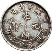 obverse of 3.6 Candareens - Guangxu (1890 - 1908) coin with Y# 199 from China.