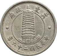 obverse of 1 Jiao - Jidong Bank (1937) coin with Y# 519 from China.