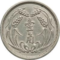 reverse of 1 Jiao - Jidong Bank (1937) coin with Y# 519 from China.