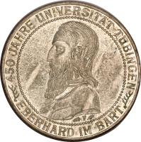 reverse of 3 Reichsmark - Tubingen University (1927) coin with KM# 54 from Germany.