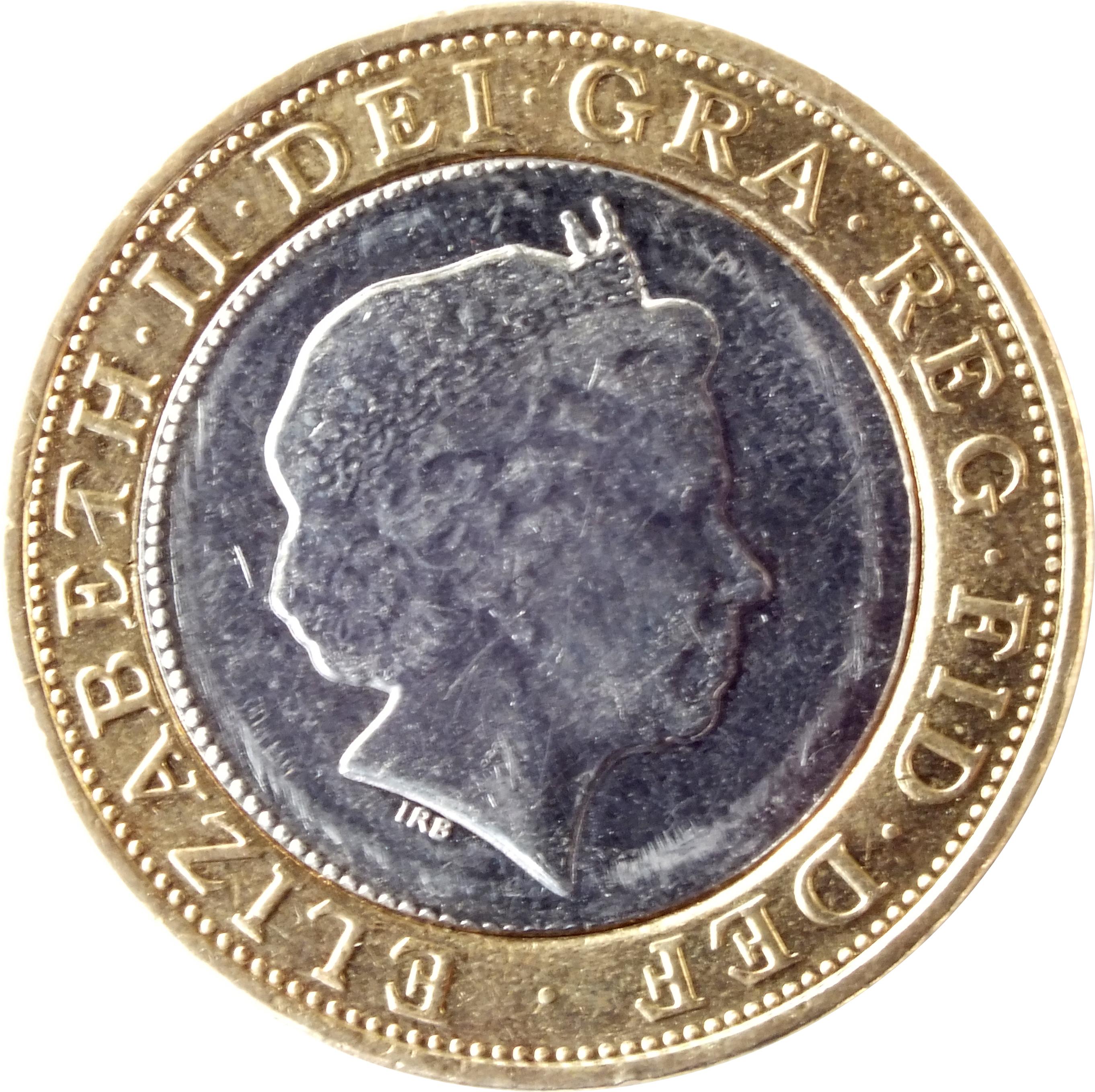 2 Pounds - Elizabeth II - 4'th Portrait (1998-2015) United Kingdom KM# 994 - CoinsBook