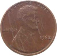 obverse of 1 Cent - Lincoln Memorial Cent (1959 - 1982) coin with KM# 201 from United States. Inscription: IN GOD WE TRUST LIBERTY 1975