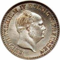 obverse of 2 1/2 Silber Groschen - Friedrich Wilhelm IV (1853 - 1860) coin with KM# 463 from German States. Inscription: FRIEDR.WILHELM IV KOENIG V.PREUSSEN