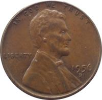 obverse of 1 Cent - Lincoln Wheat Cent (1909 - 1959) coin with KM# 132 from United States. Inscription: IN GOD WE TRUST LIBERTY 1925 D