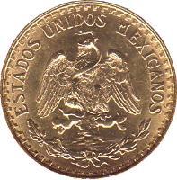 obverse of 2 Pesos (1919 - 1948) coin with KM# 461 from Mexico. Inscription: ESTADOS UNIDOS MEXICANOS