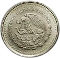 obverse of 1/10 Onza - Libertad Silver Bullion (1991 - 1995) coin with KM# 543 from Mexico.
