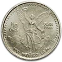 reverse of 1/10 Onza - Libertad Silver Bullion (1991 - 1995) coin with KM# 543 from Mexico. Inscription: 1/10