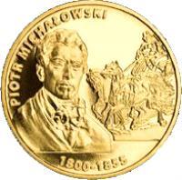 reverse of 2 Złote - Piotr Michalowski 1800-1855 (2012) coin with Y# 842 from Poland. Inscription: PIOTR MICHALOWSKI 1800-1855