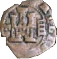 obverse of 4 Maravedis - Felipe III (1598 - 1621) coin with KM# 11 from Spain. Inscription: PHILIPPVS III D G