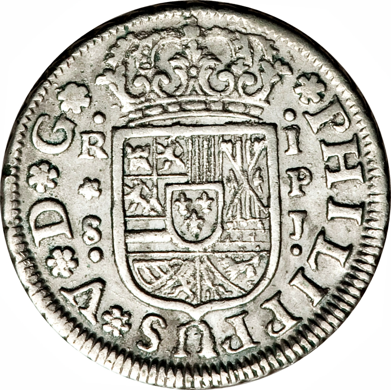 foto de 1 Real Felipe V (1731 1745) Spain KM# 354 CoinsBook