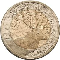 obverse of 1 Lira - Red Deer (2012) coin with KM# 1283 from Turkey. Inscription: KIZIL GEYIK