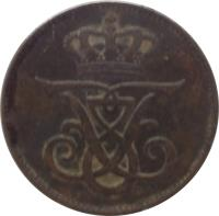 obverse of 2 Øre - Frederik VIII (1907 - 1912) coin with KM# 805 from Denmark. Inscription: FF8