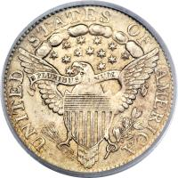 reverse of 1 Dime - Draped Bust Dime; Heraldic eagle (1798 - 1807) coin with KM# 31 from United States.