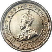 obverse of 5 Cents - George V (1911 - 1936) coin with KM# 16 from Belize. Inscription: GEORGE V KING AND EMPEROR OF INDIA · 1936 ·