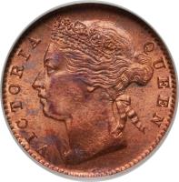 obverse of 1/4 Cent - Victoria (1889 - 1901) coin with KM# 14 from Straits Settlements. Inscription: VICTORIA QUEEN
