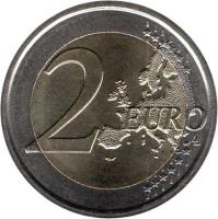 reverse of 2 Euro - Benedict XVI - World Meeting of Families (2012) coin with KM# 435 from Vatican City. Inscription: 2 EURO LL
