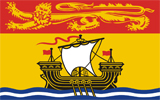 Canadian provinces New Brunswick flag