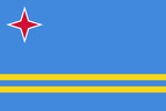 Aruba Dutch colony flag