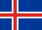 Iceland Republic flag
