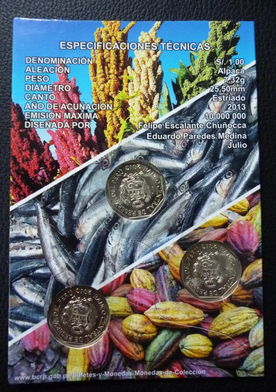 """Peru blister coin set 2013 """"Recursos Naturales del Perú ..."""